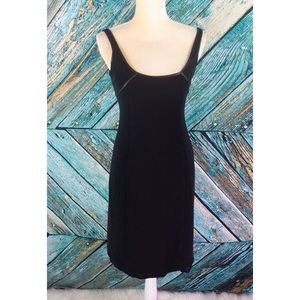 Piazza Sempione Black Spaghetti Strap Dress